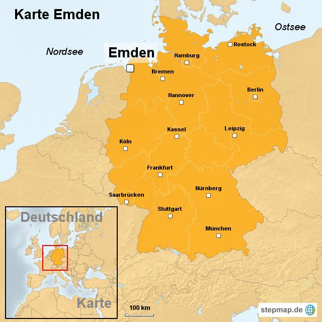 Emden Karte.Stepmap Karte Emden Landkarte Fur Deutschland