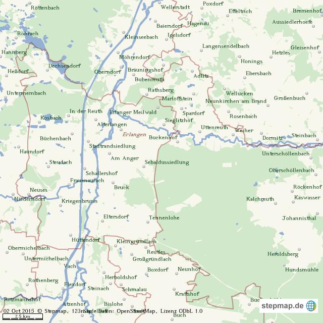 erlangen karte StepMap   Karte Erlangen   Landkarte für Welt erlangen karte