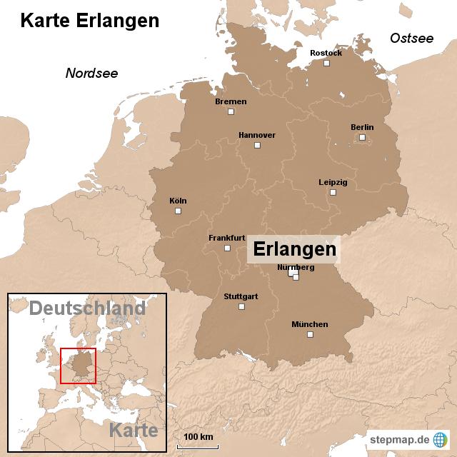 erlangen karte StepMap   Karte Erlangen   Landkarte für Deutschland erlangen karte