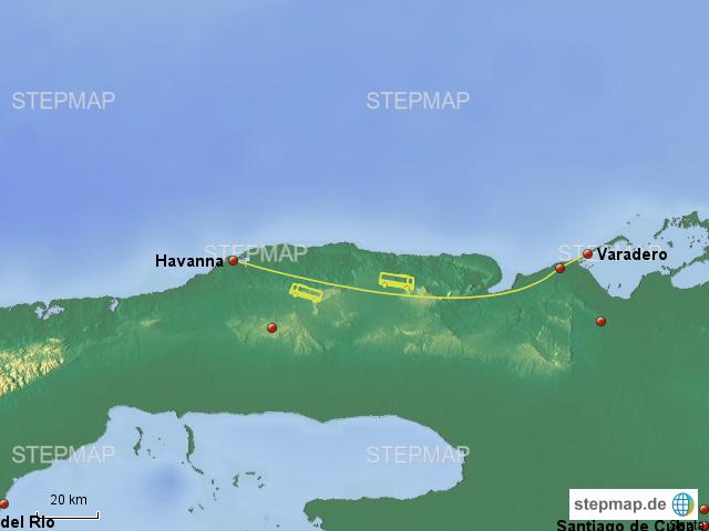 Havanna Kuba Karte.Stepmap Karte Fahrt Varadero Havanna Landkarte Für Kuba