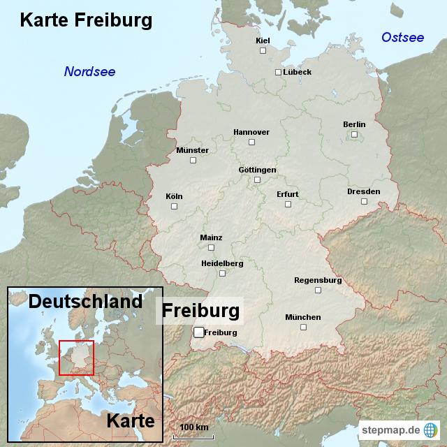 Freiburg Karte.Stepmap Karte Freiburg Landkarte Fur Deutschland