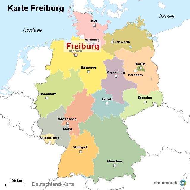 karte freiburg StepMap   Karte Freiburg   Landkarte für Deutschland