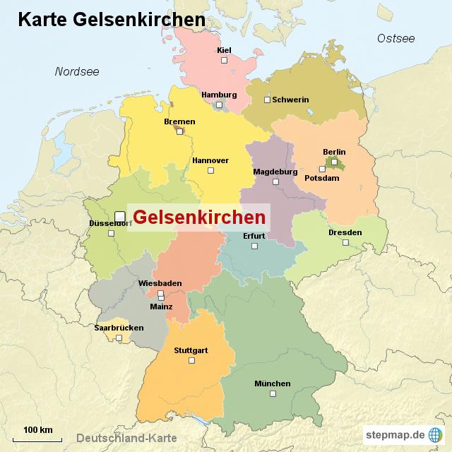 gelsenkirchen karte StepMap   Karte Gelsenkirchen   Landkarte für Deutschland