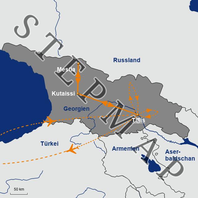 Georgien Karte.Stepmap Karte Georgien Landkarte Für Georgien