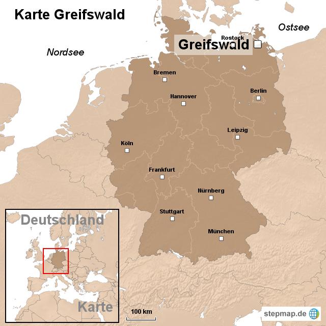greifswald karte deutschland StepMap   Karte Greifswald   Landkarte für Deutschland