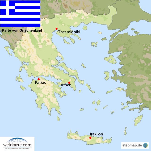 Karte Griechenland.Stepmap Karte Griechenland Landkarte Für Griechenland