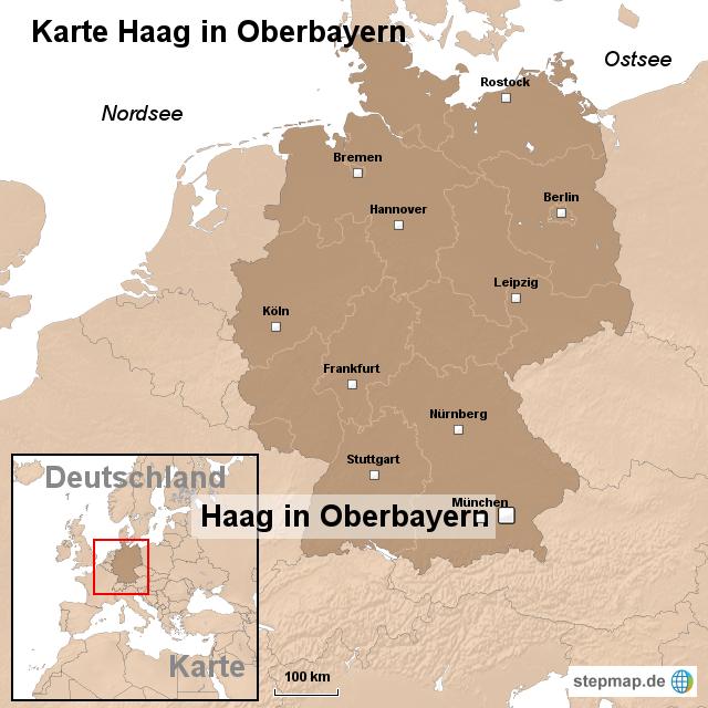 Karte Oberbayern.Stepmap Karte Haag In Oberbayern Landkarte Für Deutschland