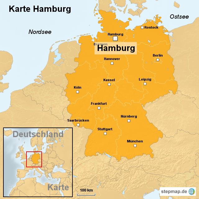 hamburg landkarte deutschland StepMap   Karte Hamburg   Landkarte für Deutschland
