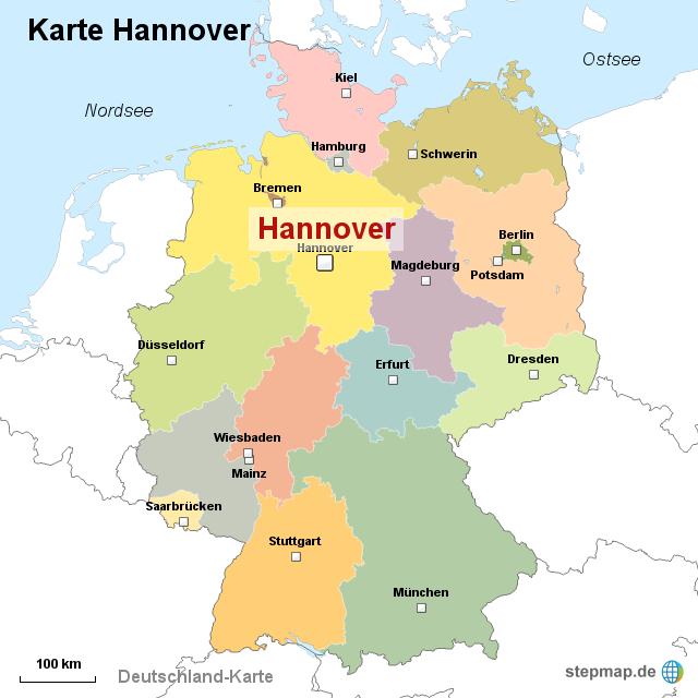 landkarte hannover StepMap   Karte Hannover   Landkarte für Deutschland landkarte hannover