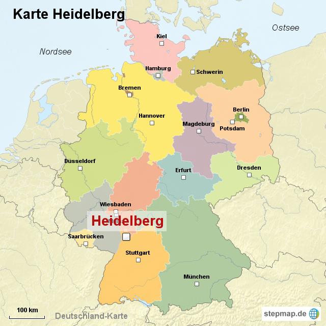 heidelberg karte StepMap   Karte Heidelberg   Landkarte für Deutschland