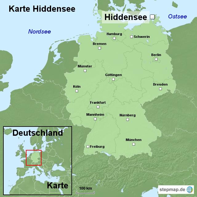 hiddensee karte StepMap   Karte Hiddensee   Landkarte für Deutschland hiddensee karte