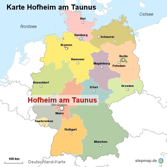taunus karte StepMap   Karte Hofheim am Taunus   Landkarte für Deutschland
