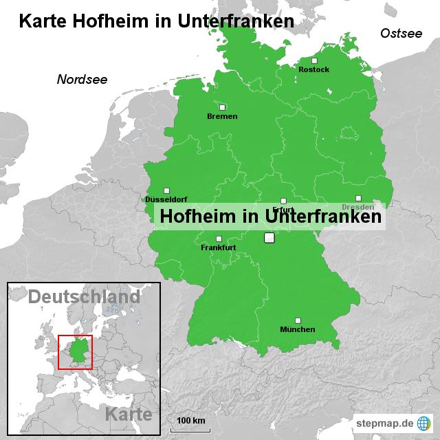 Unterfranken Karte.Stepmap Karte Hofheim In Unterfranken Landkarte Für Deutschland
