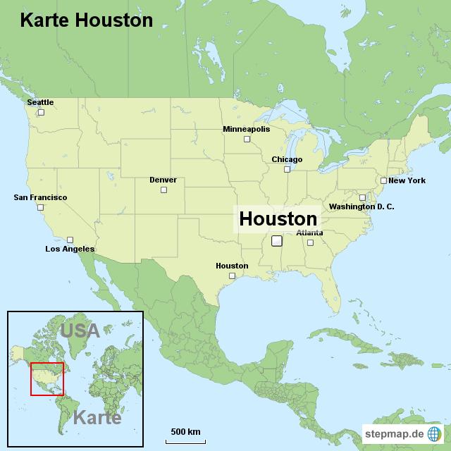Stepmap Karte Houston Landkarte Fur Usa
