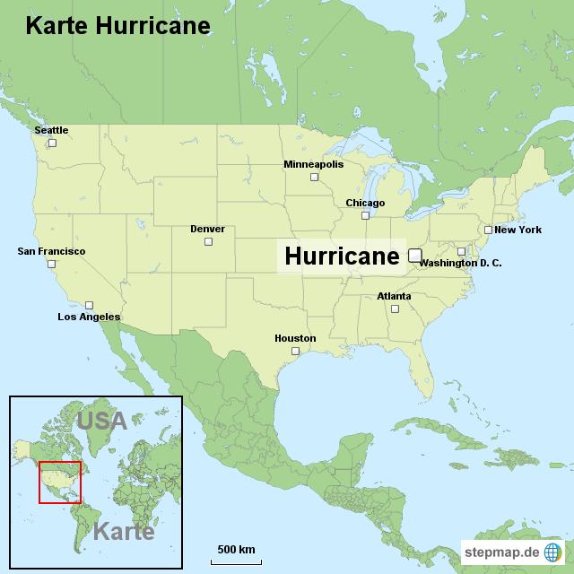 Hurricane Karte