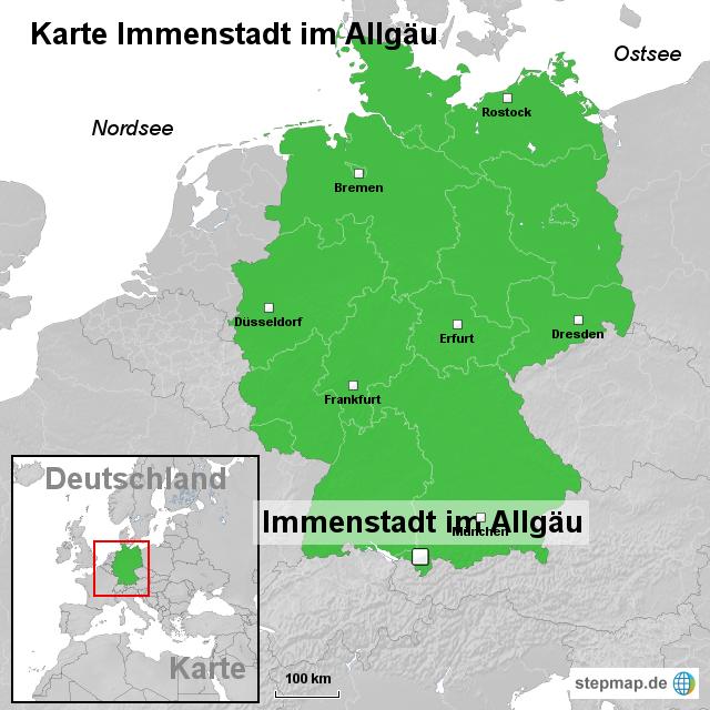 allgäu karte deutschland StepMap   Karte Immenstadt im Allgäu   Landkarte für Deutschland allgäu karte deutschland