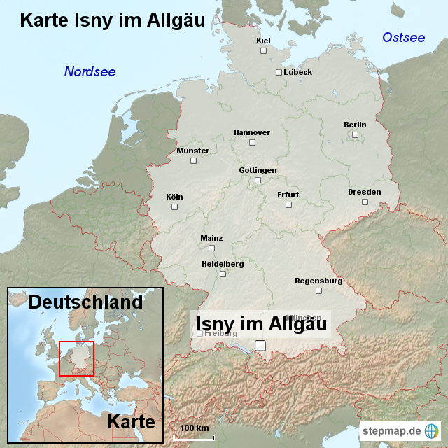 allgäu deutschland landkarte StepMap   Karte Isny im Allgäu   Landkarte für Deutschland