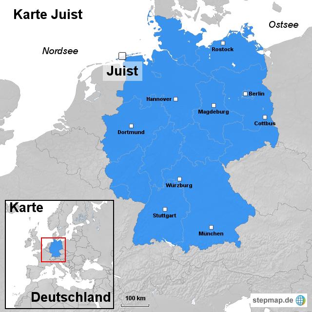 Juist Karte.Stepmap Karte Juist Landkarte Für Deutschland