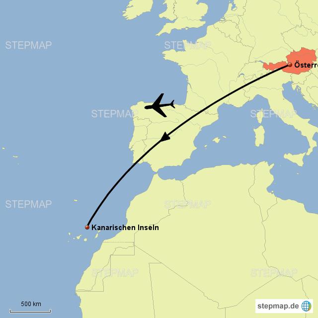 Kanaren Karte Europa.Stepmap Karte Kanarischen Inseln Landkarte Fur Osterreich