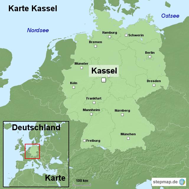 kassel karte deutschland StepMap   Karte Kassel   Landkarte für Deutschland