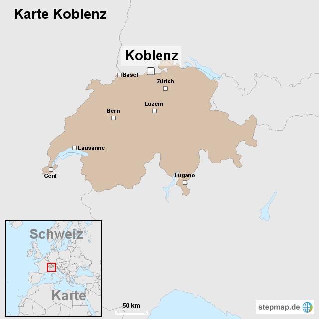 Karte Koblenz.Stepmap Karte Koblenz Landkarte Für Schweiz