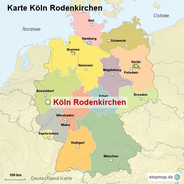 Köln Karte Deutschland.Stepmap Karte Köln Rodenkirchen Landkarte Für Deutschland