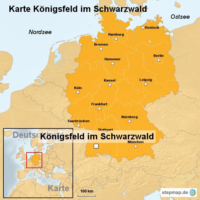 schwarzwald karte deutschland StepMap   Karte Königsfeld im Schwarzwald   Landkarte für Deutschland schwarzwald karte deutschland