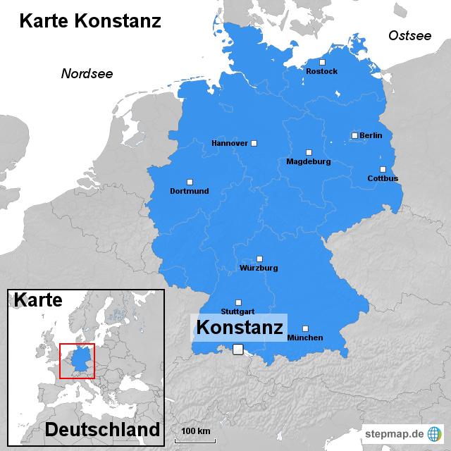 konstanz karte StepMap   Karte Konstanz   Landkarte für Deutschland konstanz karte