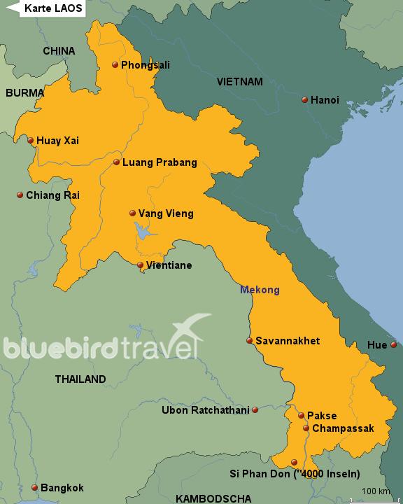 Laos Karte.Stepmap Karte Laos Landkarte Für Laos
