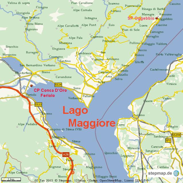 lago maggiore karte StepMap   Karte Lago Maggiore 2014/1   Landkarte für Welt lago maggiore karte