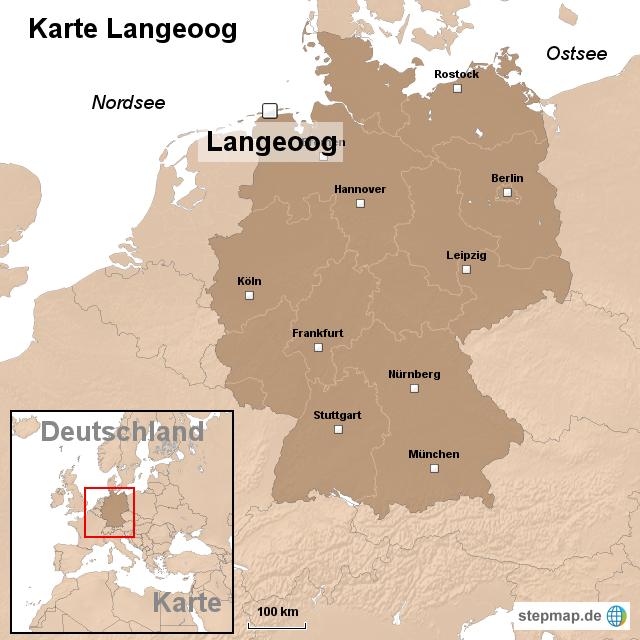 langeoog karte StepMap   Karte Langeoog   Landkarte für Deutschland