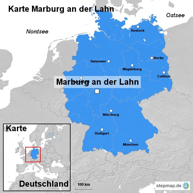 marburg karte StepMap   Karte Marburg an der Lahn   Landkarte für Deutschland