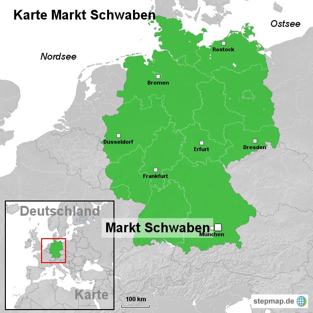 schwaben karte deutschland StepMap   Karte Markt Schwaben   Landkarte für Deutschland schwaben karte deutschland