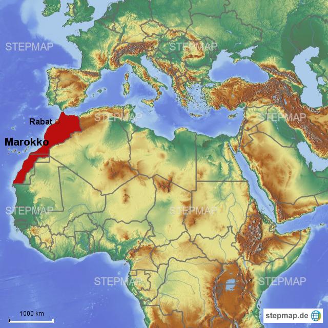 karte marokko StepMap   Karte Marokko   Landkarte für Afrika