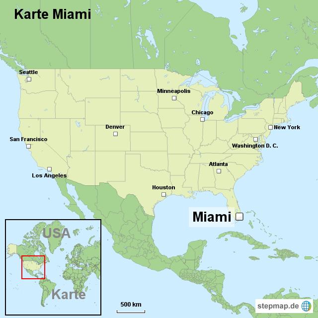 miami karte StepMap   Karte Miami   Landkarte für USA miami karte