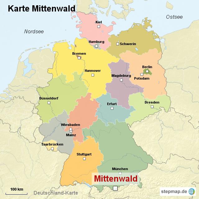 mittenwald karte StepMap   Karte Mittenwald   Landkarte für Deutschland