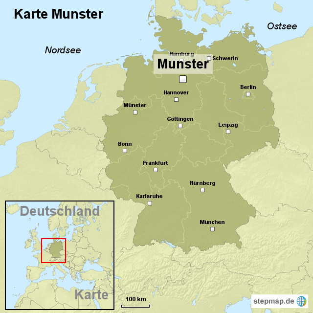 münster karte StepMap   Karte Munster   Landkarte für Deutschland