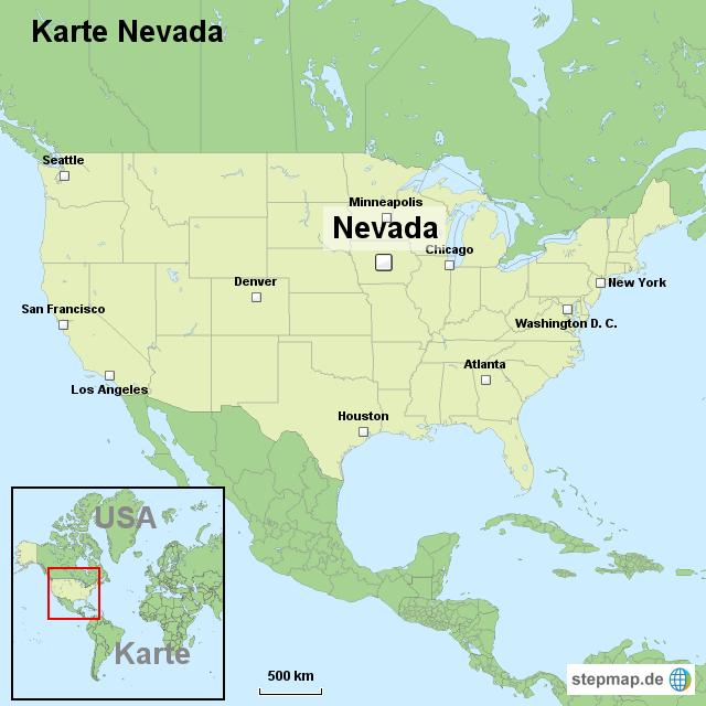 nevada karte StepMap   Karte Nevada   Landkarte für USA nevada karte