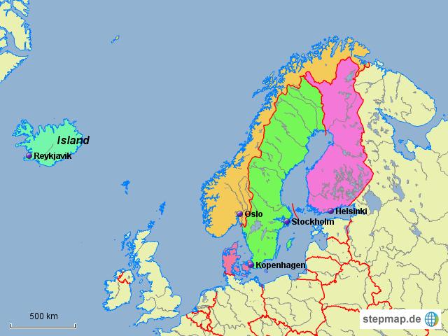 landkarte nordeuropa StepMap   Karte Nordeuropa   Landkarte für Welt landkarte nordeuropa