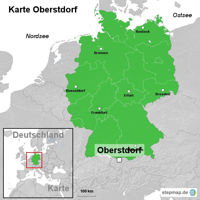 oberstdorf karte StepMap   Karte Oberstdorf   Landkarte für Deutschland