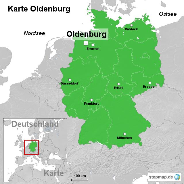 oldenburg karte StepMap   Karte Oldenburg   Landkarte für Deutschland