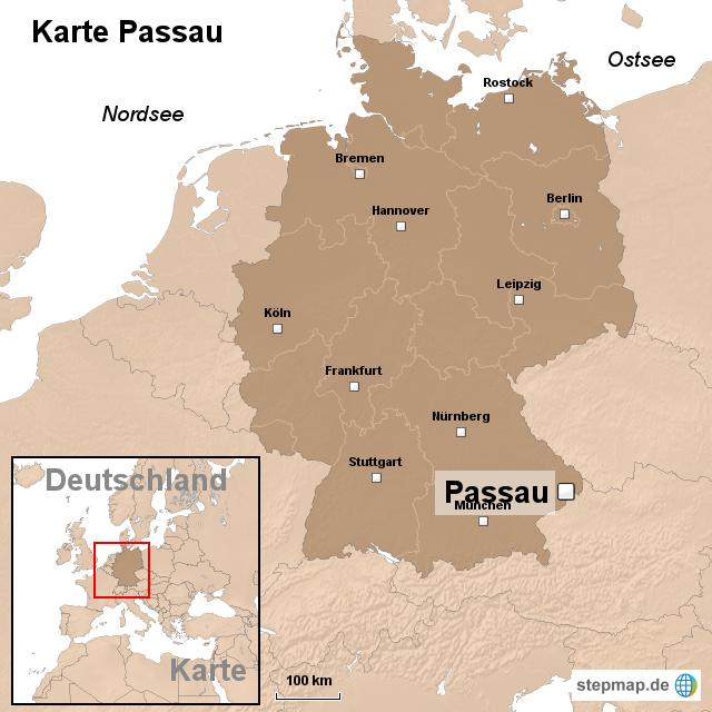 passau karte StepMap   Karte Passau   Landkarte für Deutschland