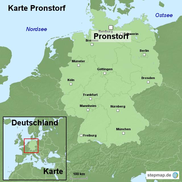 stepmap karte pronstorf landkarte f r deutschland. Black Bedroom Furniture Sets. Home Design Ideas