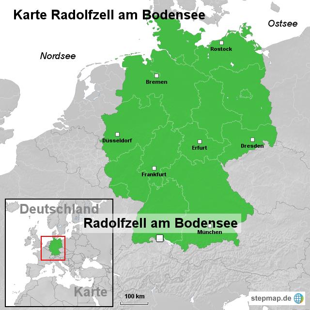 Stepmap Karte Radolfzell Am Bodensee Landkarte Fur Deutschland