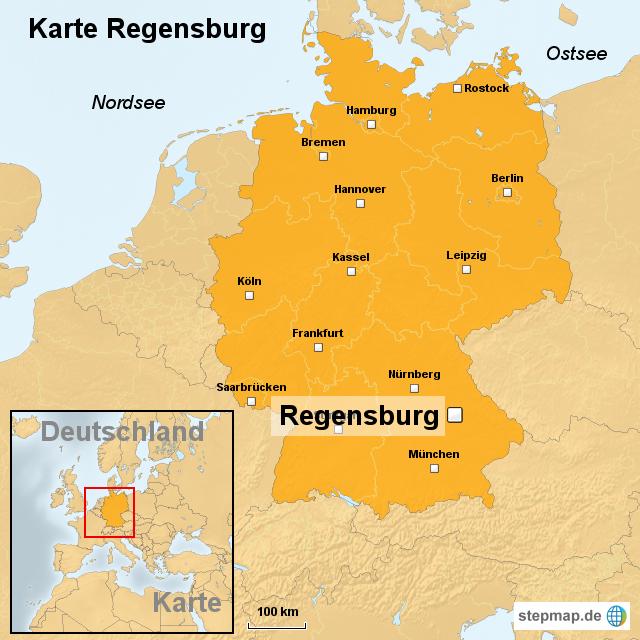 deutschland karte regensburg StepMap   Karte Regensburg   Landkarte für Deutschland