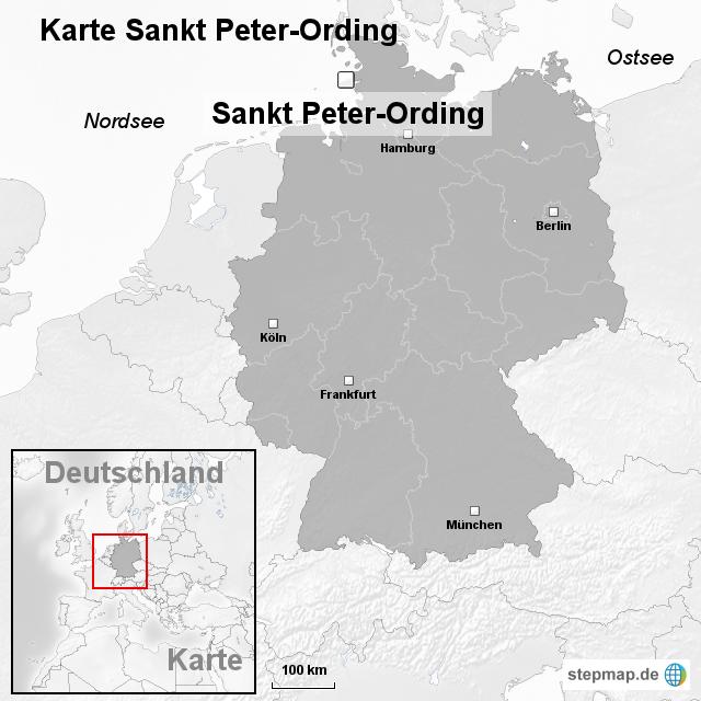 Sankt Peter Ording Karte.Stepmap Karte Sankt Peter Ording Landkarte Fur Deutschland