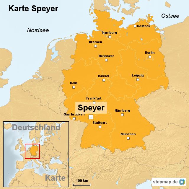 speyer karte deutschland StepMap   Karte Speyer   Landkarte für Deutschland