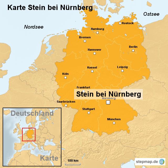 Nürnberg Karte Deutschland.Stepmap Karte Stein Bei Nürnberg Landkarte Für Deutschland