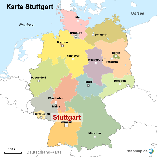 karte stuttgart StepMap   Karte Stuttgart   Landkarte für Deutschland karte stuttgart
