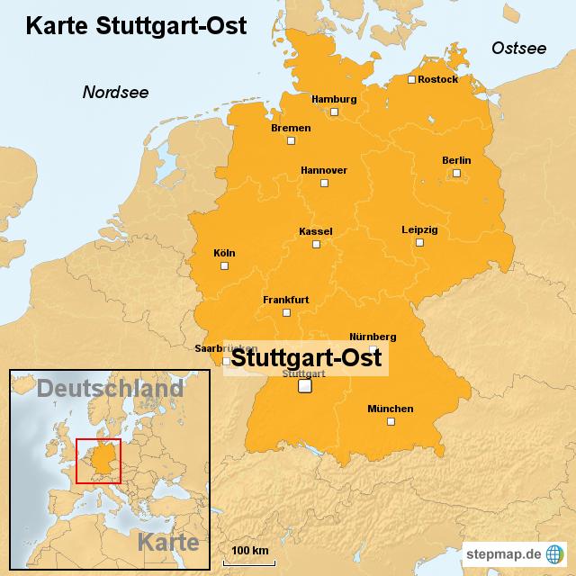 Stepmap Karte Stuttgart Ost Landkarte Fur Deutschland